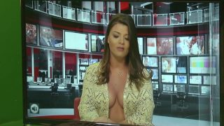 Hot interview of sexy and pretty Marisol Padilla in revealing neckline